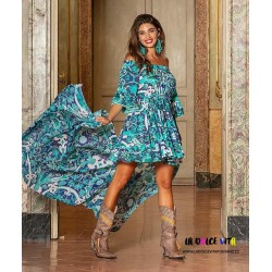 ROMA 732 TURQUOISE DRESS OF...