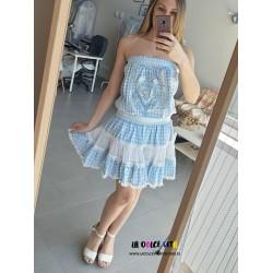 VICHY BLUE DRESS BY GADO GADO