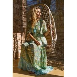 AQUA SALLY DRESS BY MISS JUNE