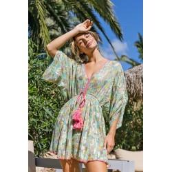 AQUA INDIAH DRESS BY MISS JUNE