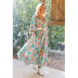 AQUA FLORALIES DRESS BY...