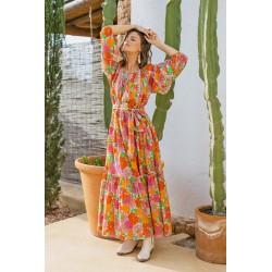 ORANGE FLORALIES DRESS BY...