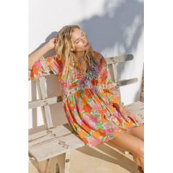 ORANGE ABBA DRESS BY MISS JUNE
