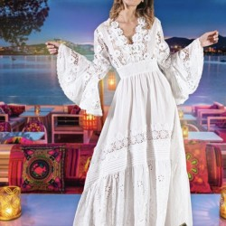 ROBE CALIFORNIA BLANC DE...
