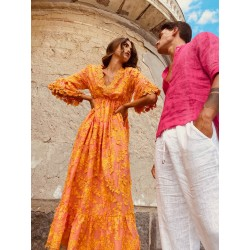 ROBE ATENAS ORANGE DE...