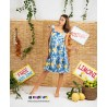 DRESS ROMY BLUE LEMON FROM LUISA POSITANO