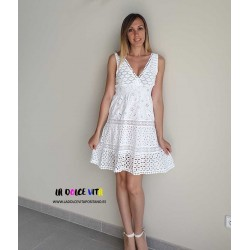 DRESS BABA BLANCO FROM LUISA POSITANO