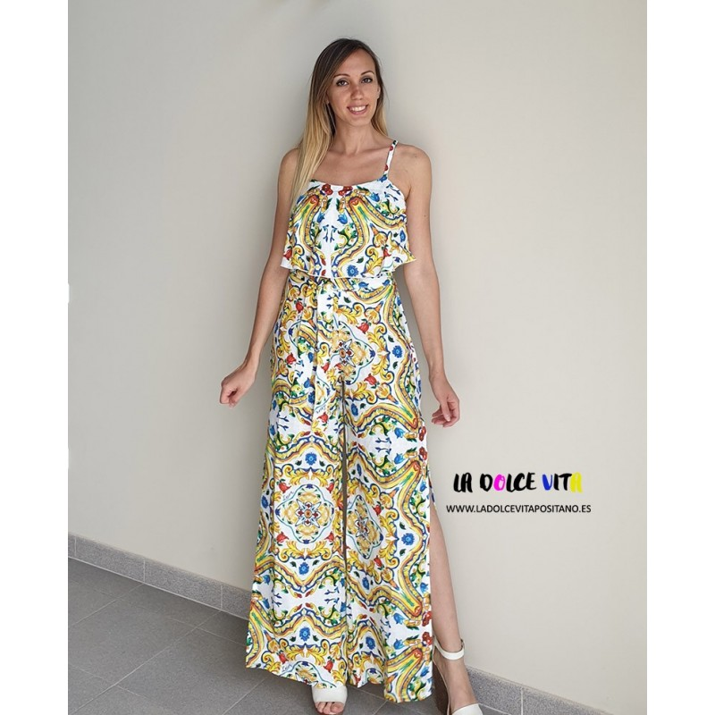 JUMPSUIT VIETRI FROM LUISA POSITANO