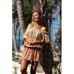 PEACH RIVER DRESS BY MISS JUNE